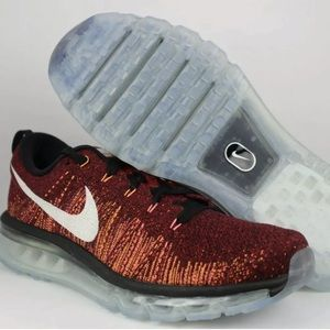 Nike Flyknit Air Max Red Men's Running Sneakers